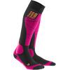 cep Ski Merino Sokken Dames roze/zwart